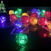 3W Multi-Color Sepak Takraw Holiday Lighting String with 20pcs LED Bulbs, AC110~220V Input 4 Meter a Set