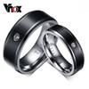Fashion CZ Diamond Titanium Rings For Women Men Wedding Engagement Ring Not allergic Pure Titanium Ring Gift Jewelry
