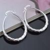 2015 new design 925 sterling silver hoop earrings fashion classic jewelry for girls free shipping
