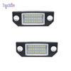 2PCS Lot 24 LED 3528 SMD LED License Plate Lights Car Bulbs 6000K For Ford Focus C-Max 2003-2018 MK2 2003-2008 White Canbus No Error