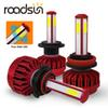 roadsun Auto LED H4 H11 HB3 HB4 Headlight Led Car Light H7 12000lm 4 Sides Lamp Accessories 9005 9006 55W Headlamp 6000K