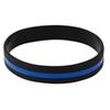2pcs Fashion Silicone Wristband Officers Awareness Support Thin Blue Line Silicone Wristband Bracelets Value Pack