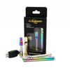 Best quality Rainbow Gold Color Vape Pens Starter Kits Wax Oil Ceramic Coil Tank Preheat 350mAh 510 Thread Variable Voltage Free Shipping