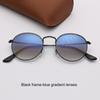lentes de gradiente de marco azul negro
