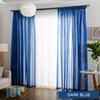 dark blue curtains