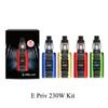 2019 Authentic E Priv Kit 230W TC Mods With 8ml TFV12 Prince Tank For Vape Liquid Juice Moonrock Clear Epriv Starter Ecigarette Kit