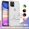 For Iphone 11 Pro XR XS Max Matte Back Cover Phone Case Protect Mobile Phone with OPP pack