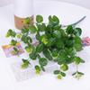 25pcs per pack real touch PU artificial money leave eucalyptus leaves artificial greenery wedding decor silk flowers wholesale price