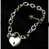 Punk Gothic Women Men Unisex Heart Lock Chain Choker Metal Link Heavy Duty Chains Collar Necklace