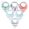 6pcs Baby Bandana Drool Super Absorbent 100% Organic Cotton Drooling Teething & Feeding Unisex Bibs For Newborns J190522