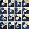 New Snap jewelry 10pcs Round Crystal 18mm Snap button pendant Necklace ginger snap noosa chunk with Stainless steel chain gift