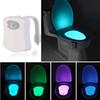 Smart Bathroom Toilet Nightlight LED Body Motion Activated On Off Seat Sensor Lamp 8 Color PIR Toilet Night Light lamp hot