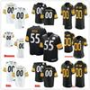 Custom New Pittsburgh 55 Devin Bush Diontae Johnson Justin Layne Benny Snell Jr. 43 Troy Polamalu Men Women Youth Steelers Stitched Jerseys
