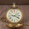 Vintage Retro Copper Watch Men Alloy London Mechanical Pocket Watch With Metal Chain Steampunk Roman