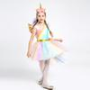 Kids Girls Rainbow Unicorn Costume For Girls Princess Halloween Carnival Birthday Party Dress Cosplay Costumes