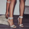 Luxury Crystal Heel Sandals Brand Design Sexy Bling Rhinestone High Heel Women Sandals Elegant Party Shoes Women A058