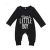 Brand New Fashion Newborn Toddler Infant Baby Boys Romper Long Sleeve Jumpsuit Playsuit Little Boy Outfits Black Clothes
