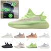 Stock X 2019 Glow Hyperspace True Form Clay Static Reflective Mens Running Shoes Kanye West Cream White Women Trainers Sneakers Size 36-48