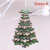 2020 Christmas Tree Hanging Ornament Pentagram Snowflake Wood Sign Home Xmas Party Decor Kids Gift Toys 13X9Cm