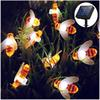 Outdoor Light String Solar Powered Honeybee Patio LED String 30 LEDs Christmas Garden Backyard Decoration String Lights Amazon Hot