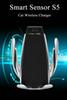10W Wireless Car Charger S5 Automatic Clamping Fast Charging Phone Holder Mount in Car for iPhone Huawei Samsung Smart Phone