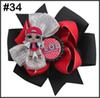 free shipping 5pcs doll hair bows With suprise bowsDolls clips girl hair bows For Children Girl hair accessories