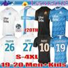 Adult kids 2019 Olympique de Marseille 120th Soccer jersey PAYET BENEDETTO 19 20 OM Football shirts THAUVIN Maillot De Foot SIZE S-4XL