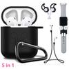 5 in 1 Protective Silicone Case Cover Non-slip Anti-lost Strap Wire Eartip for Apple bluetooth Headphone For Airpod Airpods kits Accessories