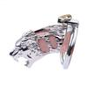 Tiger Shape Cock Cage Male Chastity Device Stainless Steel Penis Ring Bondage Lock Chastity Cage Adult BDSM Sex Toy For Men