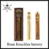 Brass Knuckles vape Battery 650mAh 900mAh gold wood Variable Voltage E-Cigarette Battery Pen For 510 Thraed Cartridge DHL 0266236