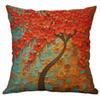 Flower Print Simple Flax Cushion Cover Cute Style Mixed Sofa Car Cushion Cover Home Decoration 45X45cm L617