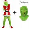 2018 Brand New Sale Santa Claus Grinch mascot Costume Stole Christmas Party Suit Outfits for Men Women