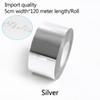 Серебро-ширина 5 см*120 метров