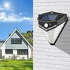 LED Solar Lights Outdoor Solar Motion Sensor Light Outdoor Waterproof Wall Light Wireless Safety Light 120° Wide Angle IP65 Waterproof Easy