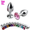 YUELV Unisex Stainless Steel Anal Butt Plug Metal Plated Jewelry Sex Stopper Anal Toys G-Spot Anus Insert Adult Anal Sex Products Erotic Toy