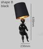 forma B, negro
