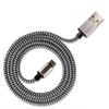 New Quality Real 1.7A USB Charger Cable Adapter 1M Colorful Aluminum Braided Cable Fiber Woven Charger Cord For Type C Smart Mobile Phone