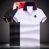 Luxury designer fashion classic men's bee striped embroidery shirt cotton mens designer T-shirt white black designer polo shirt male M-4XL