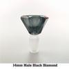 14 мм мужской черный бриллиант