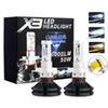 2pcs X3 led headlight 50W 6000LM H4 H7 LED Car Headlight 3000K 6500K 8000K ZES Chip H1 H11 9005 HB3 9006 HB4 h8 LED headlamp