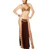 2017 Sexy New Fashion Carnival Women Cosplay Party Halloween Costumes Sexy Princess Leia Slave Costume Bra+skirt Black