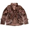 Baby Girl Suede Manteau Baby Girl Designer Clothes Kids Brown Manteau Children Clothing Kid Coat Long Sleeve 43