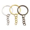 jewelry Accessories100 pcs lot Key Chain Key Ring Bronze Rhodium Gold Color 28mm Long Round Split Keyrings Keychain Jewelry Making Wholesale