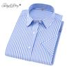 DAVYDAISY 2019 New Arrival Summer Men Shirt Short Sleeved Fashion Striped Male Shirts Formal Business camisa masculina DS298