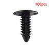 100pcs Black Clip Rivets Fastener For Car Auto Bumper Rocker