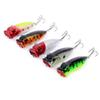 5 Pcs set Fishing Topwater Floating Popper Poper Lure Hooks Crank Baits Tackle Tool 6.5cm 13g Poppers Spinnerbait Leurre