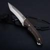 Special Offer SOG KIKU Fixed Blade Knife Outdoor Tactical Hunting Knife AUS-8 Blade Hemp Handle Survival Stright knives