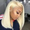 613 Lace Front Human Hair Wigs Straight Short Bob Wigs 150% Density Honey Blonde Transparent Lace Wigs Colorful Full Remy
