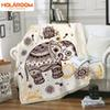 Mandala Blanket Elephant Pattern Print Blankets Thickened double-layer Thick Tapestry Coral Velvet Fabric Quilt Cover Blanket
