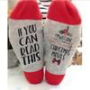 1Pair Hallmark Movies Soft Socks Christmas Letters Printed Women Winter Warm Socks Gifts -Drop